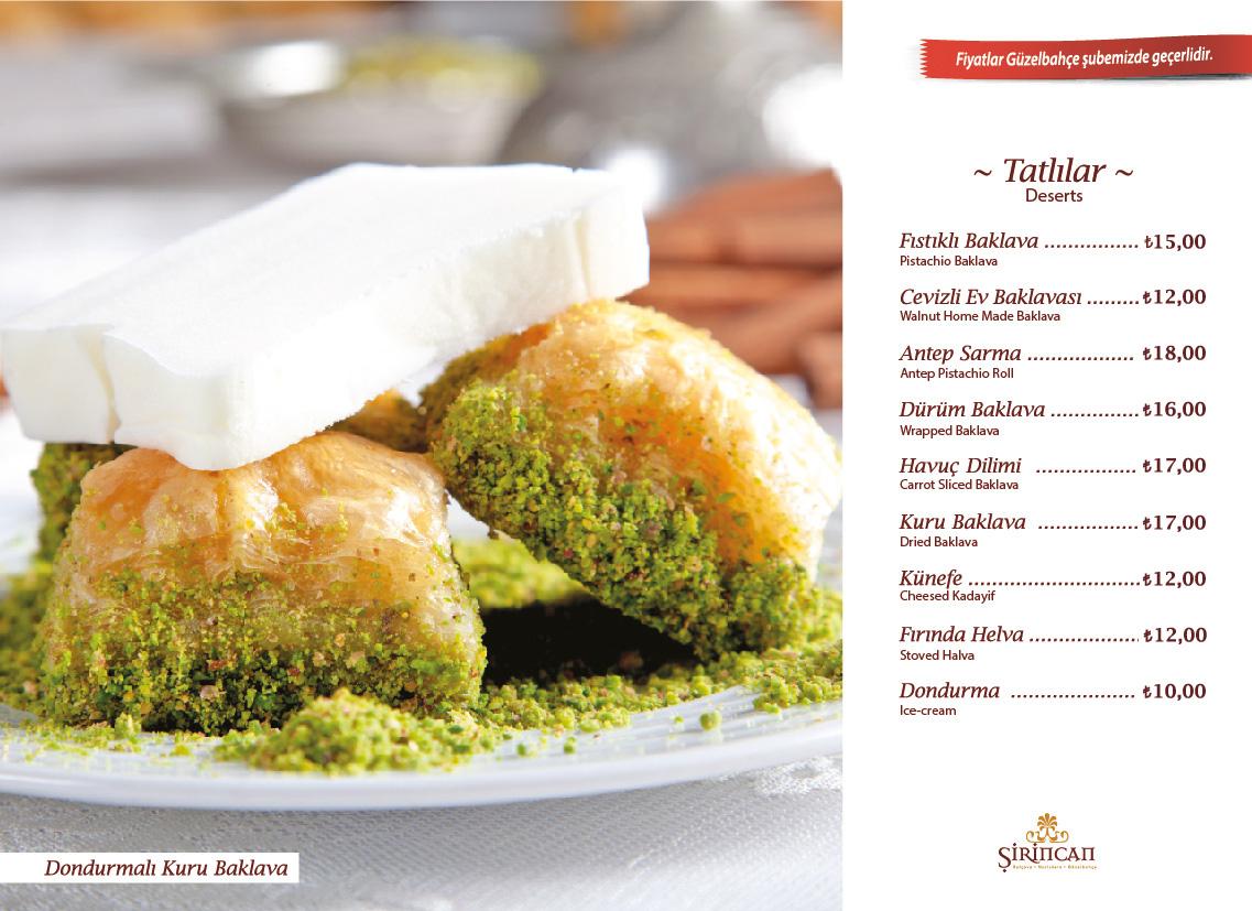 sirincan-menu